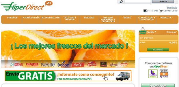 Comprar productos frescos por internet: descubrimos Hiperdirect