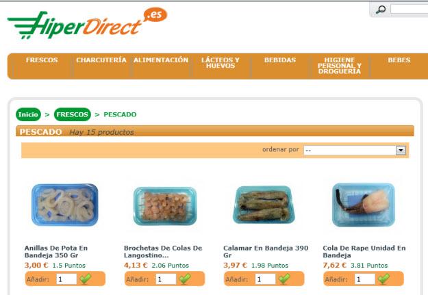 Comprar pescado fresco por internet en Hiperdirect