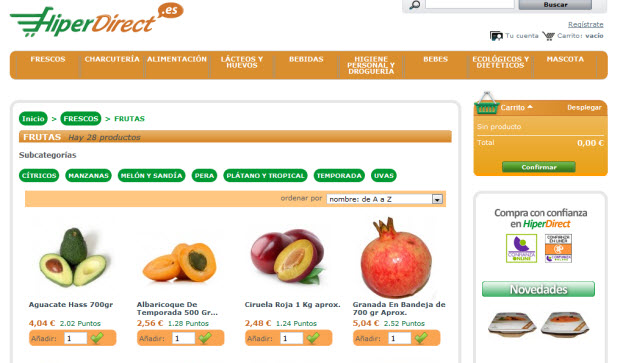 comprar frutas por internet