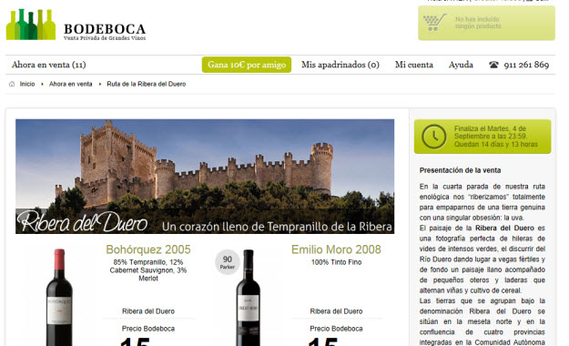 Bodeboca y su venta de vinos