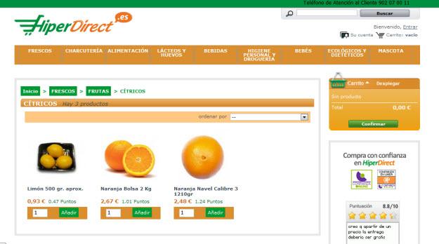 Comprar naranjas en Hiperdirect