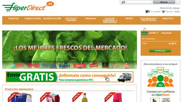 Comprar alimentos online en Hiperdirect