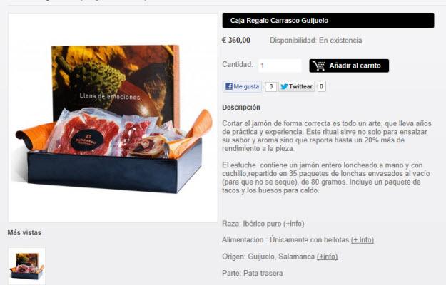 Comprar jamones de Guijuelo en Sibarissimus