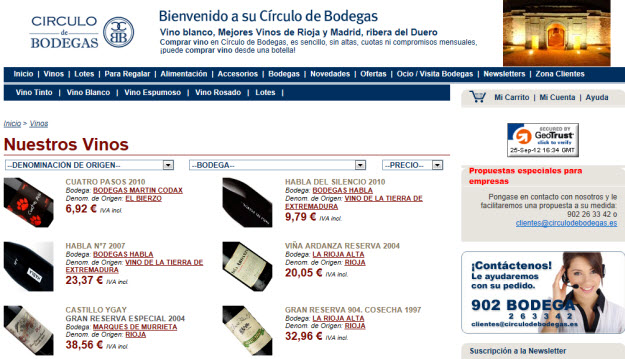 Regalar lote de vinos en Círculo de Bodegas