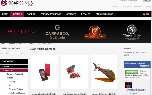 Comprar ibéricos Juan Pedro Domecq