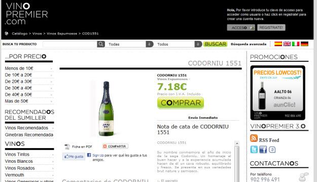 Comprar licores en Vino Premier