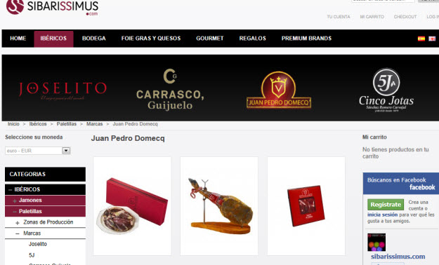 Comprar paletillas Juan Pedro Domecq