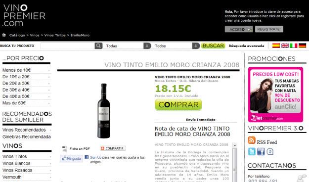 Comprar vinos Emilio Moro en Vino Premier