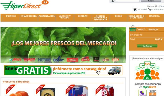 Supermercado online Hiperdirect
