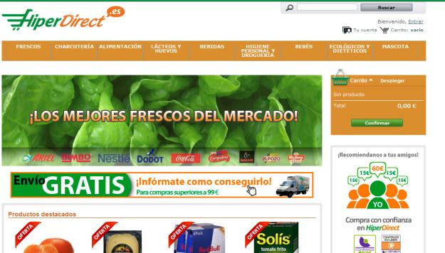 Supermercados online de confianza en Hiperdirect