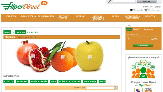Comprar fruta de temporada en Hiperdirect