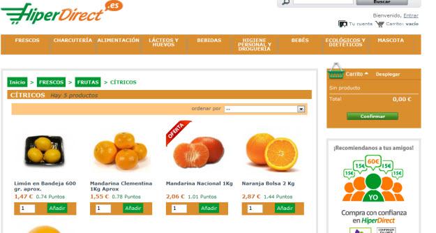 Comprar fruta en Hiperdirect