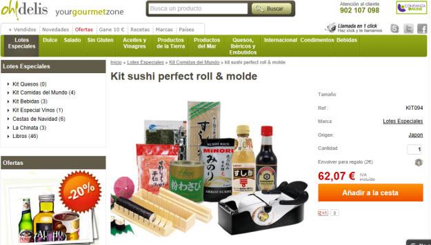 Comprar kit para sushi en Oh Delis