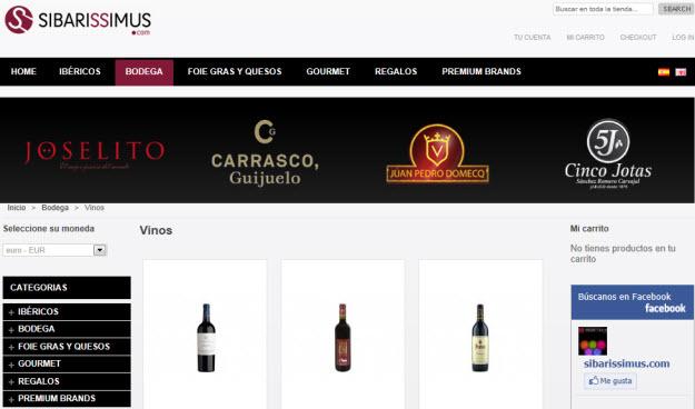 Comprar lote de vinos para cesta de navidad en Sibarissimus