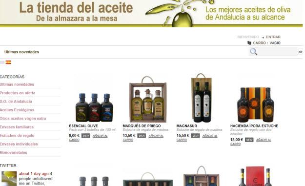 Comprar aceite de oliva de calidad