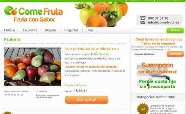 Comprar fruta ecológica en Comefruta