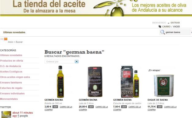 Comprar aceite Germán Baena