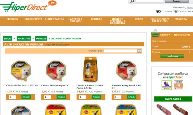 Comprar comida para mascotas