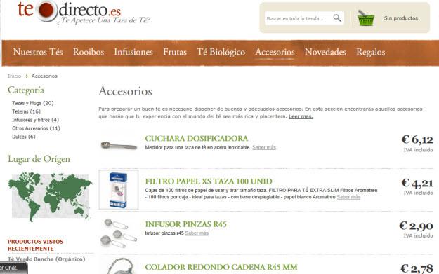 Comprar infusiones por internet en Te Directo