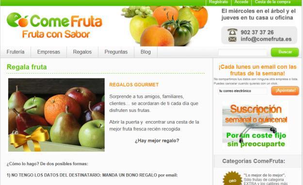 Envio de naranjas a domicilio en Comefruta