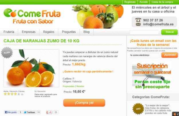 Envio de naranjas a domicilio