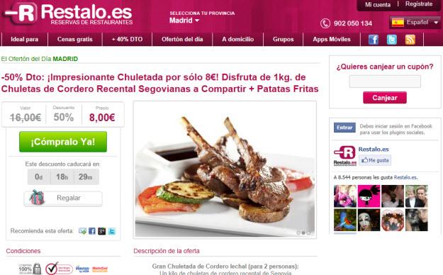 Reservar restaurantes con descuento en Restalo