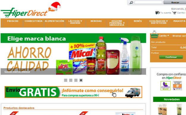 Supermercados baratos por internet