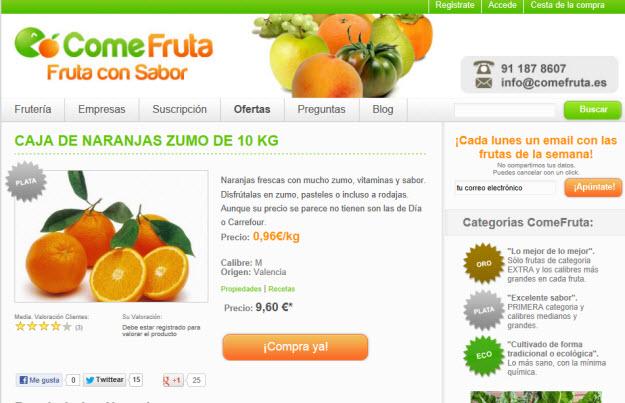 Naranjas a domicilio, naranjas recién cogidas del naranjo