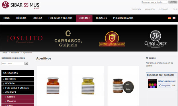 Regalar productos gourmet en Sibarissimus