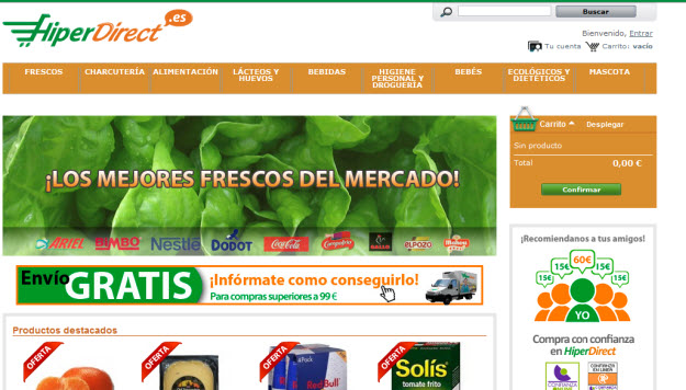 Alternativa a Comprar a domicilio en Carrefour online