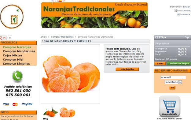 Comprar mandarinas online: la mejor fruta a click de ratón