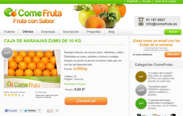 Comprar naranjas ecológicas en Comefruta