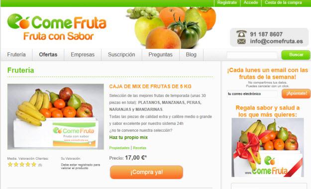 Opiniones Comefruta: fruta de calidad para tu nevera