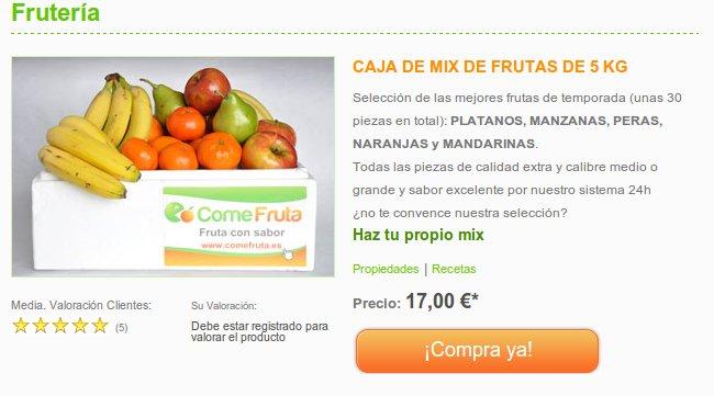 Come Fruta, una de las mejores fruterías online