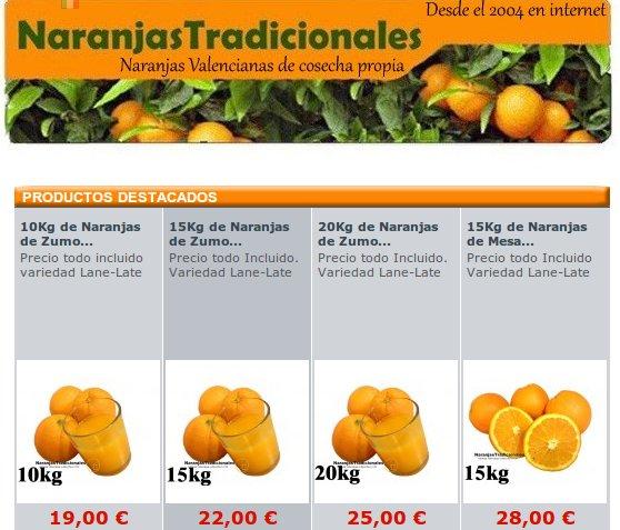 Comprar naranjas frescas en Naranjas Tradicionales
