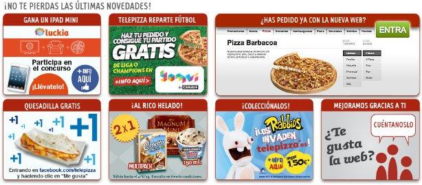 Comprar pizza online en Telepizza