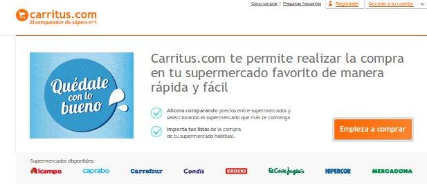 Mercadona online en Carritus: compara precios entre supermercados
