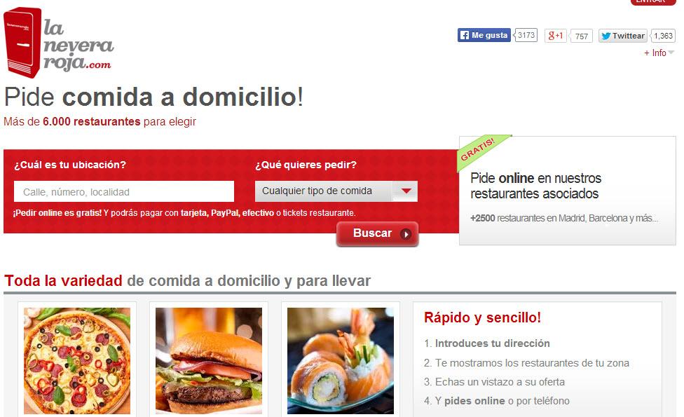 La nevera roja opiniones del portal de comida a domicilio for La nevera roja zaragoza