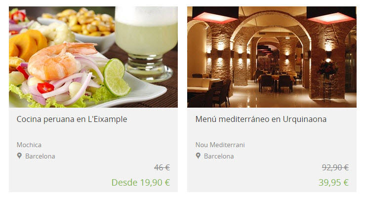 Groupon restaurantes baratos ofertas en madrid y barcelona for Locales baratos en barcelona