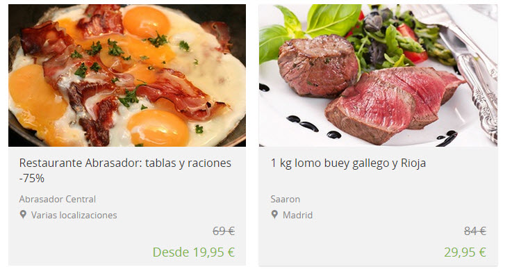 groupon restaurantes Madrid