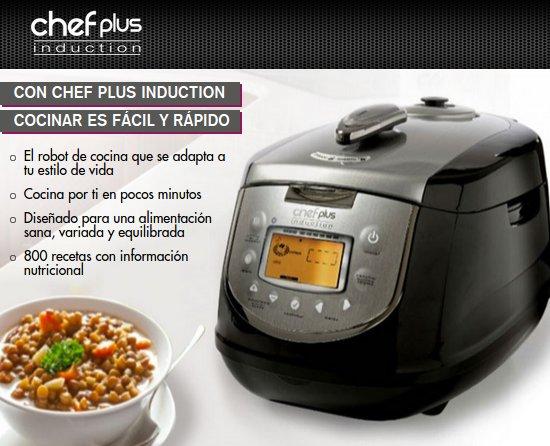 Chef plus opiniones precio y recetas de cocina for Precio de robot de cocina