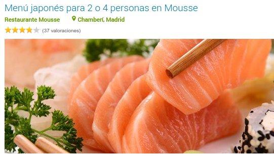 Groupalia restaurantes Madrid