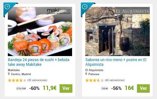 Groupalia restaurantes baratos: ofertas en Madrid y Barcelona