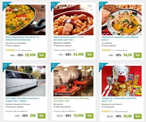 Groupalia restaurantes ofertas