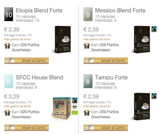 Cápsulas compatibles Nespresso a domicilio