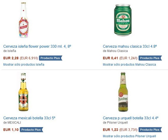 Amazon cervezas y vinos