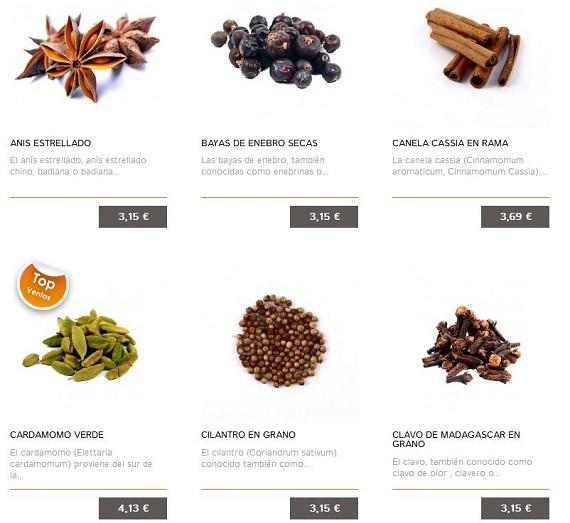Gintoniq.com especias gin tonic