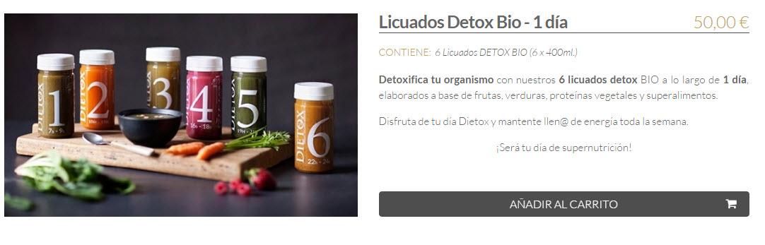 dieta detox precios