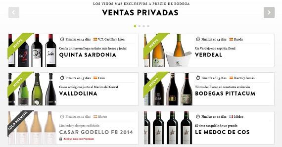 otlet vinos ventas privadas