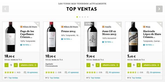 outlet de vinos precios